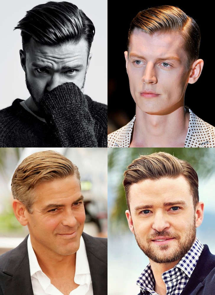 MEN'S SLICKED BACK SIDE PART HAIRSTYLES