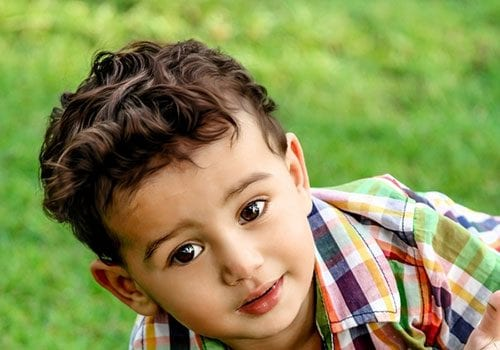 this cut is a nice in between look for boys who do not want long or short hair it works great for the little ones who are blessed with natural thick waves - Pictures For Little Boys