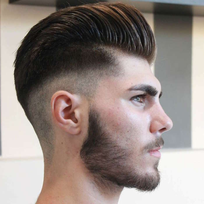 Men's Hairstyles – Skin fade with pompadour 2