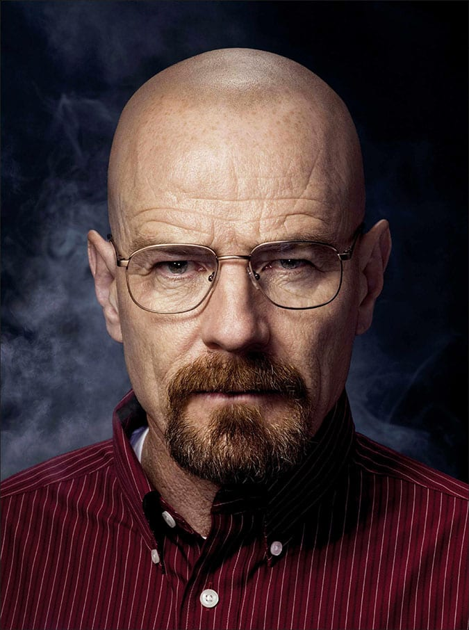 bald bryan cranston with beard