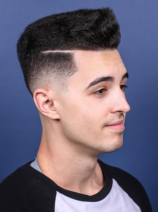 High Top Fade Hard Parted
