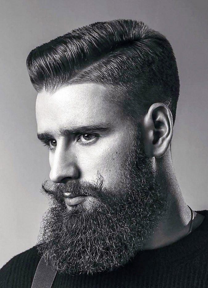 Side part Beard