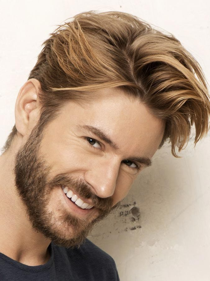 Blonde Swagger Hairstyle Bearded