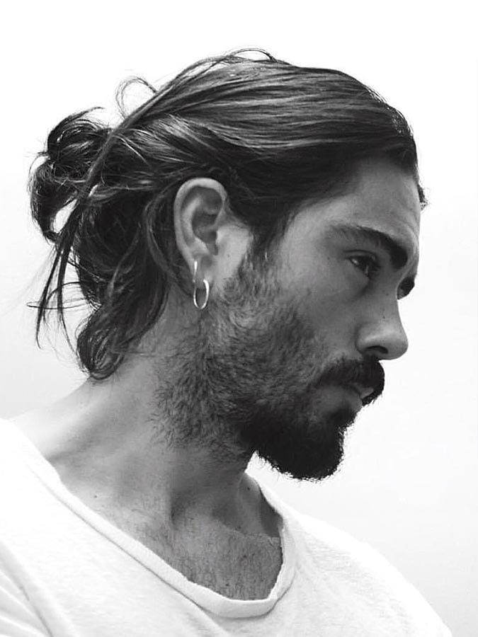 10 Manly Man Bun Amp Top Knot Hairstyle Combinations