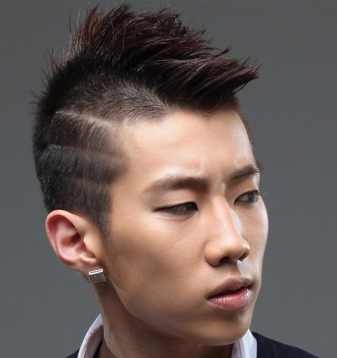 Asian Mohawk with Side Lines