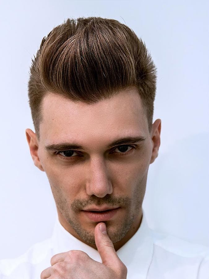 Brush Up Hairstyle for Men
