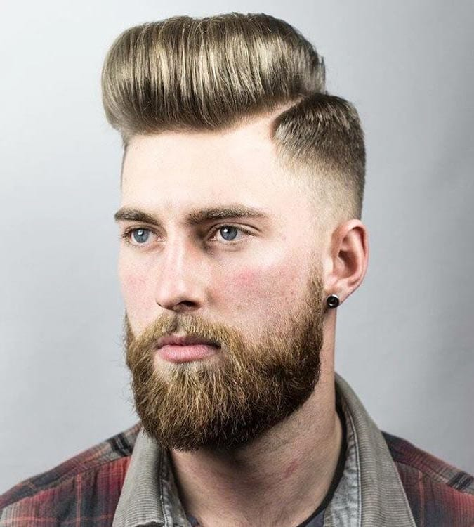 Pomp and Hard Part Skin Fade