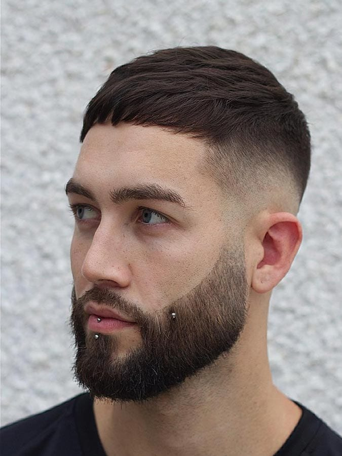 Crop straight fringe Beard