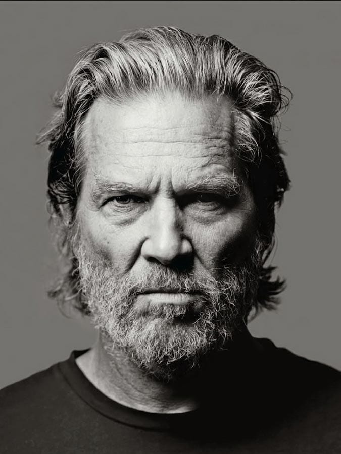 Jeff bridges slicked back grey hair