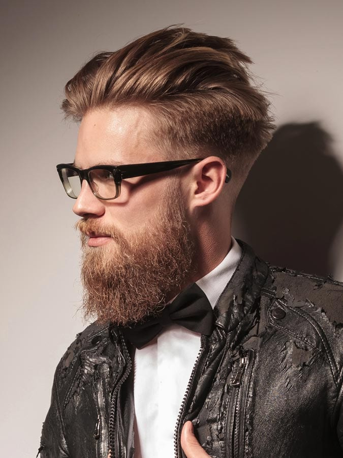 Blonde Disconnected men hairstyle