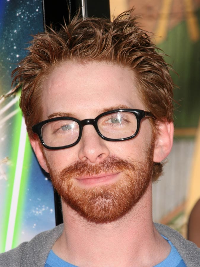 Messy Hairstyle for Red head man with glasses