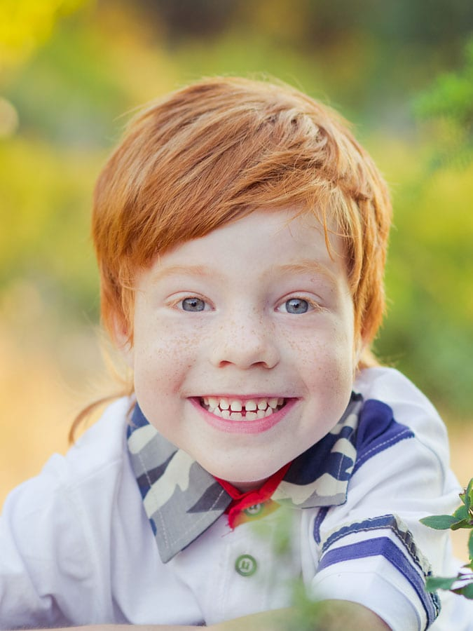 Ginger Boy Side Swept Fringe Cute Kid