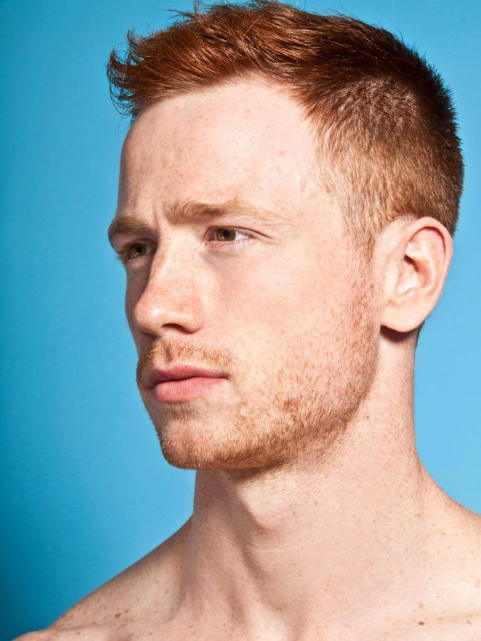 Side swept ginger short Hairstyle