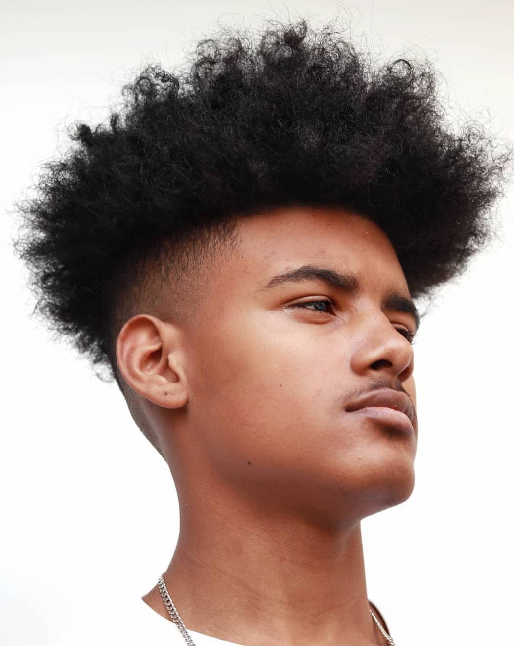 Afro Skin Fade with Undercut