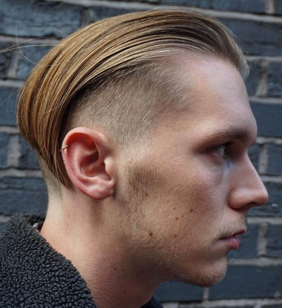 Angular Slick Back and Undercut