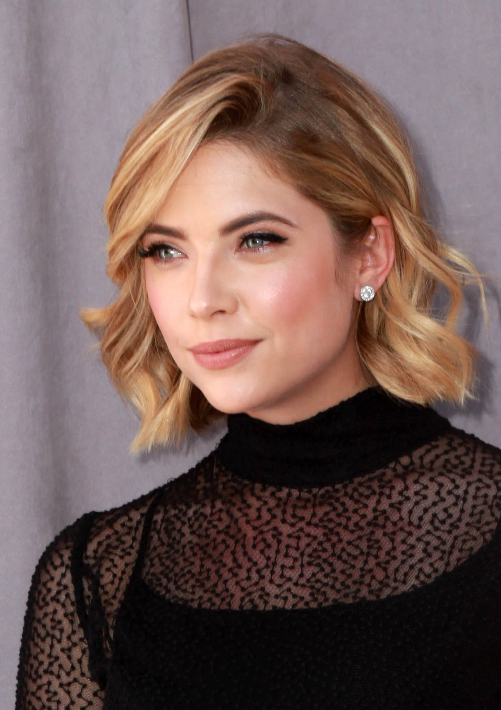 Ashley Benson Deep Side Part