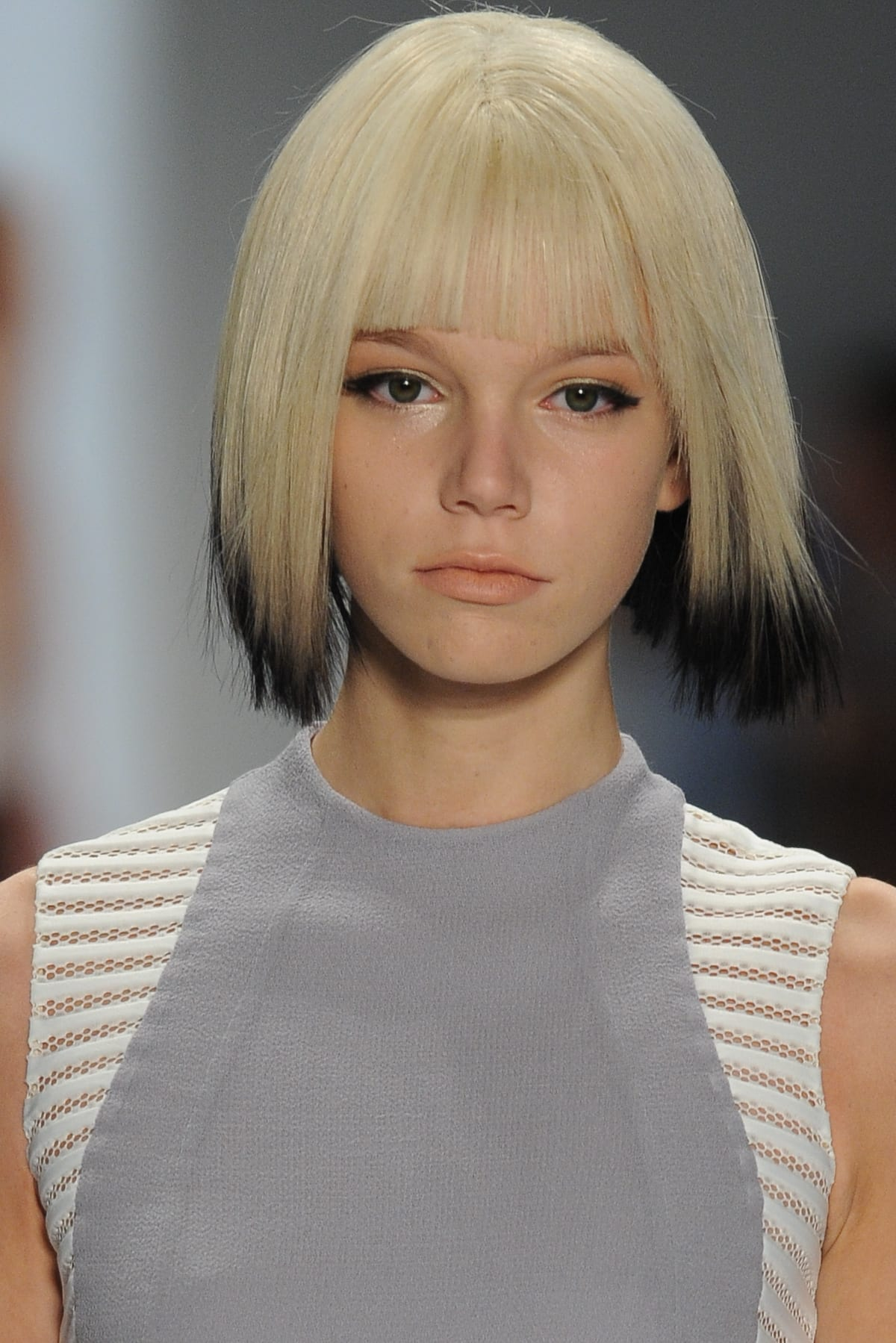 Blonde Bob with Dark Ends