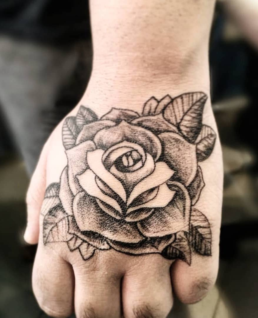 Blooming Rose on Hand