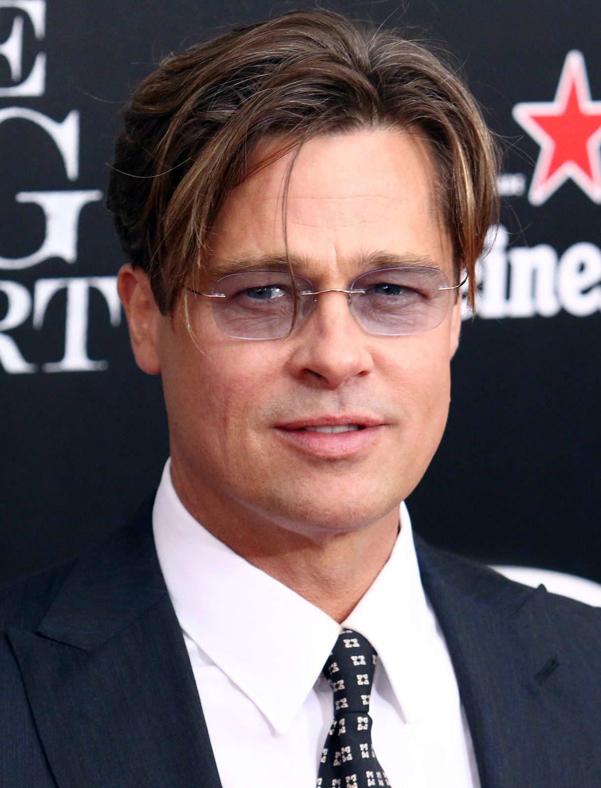 Brad Pitt Curtain Hairstyle