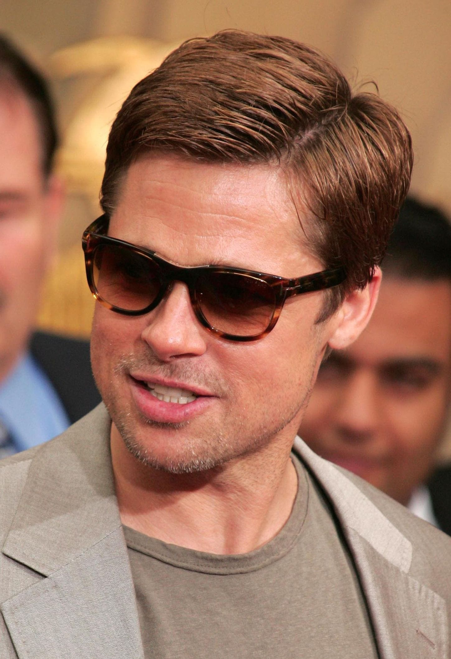 Brad Pitt side part hairstyle