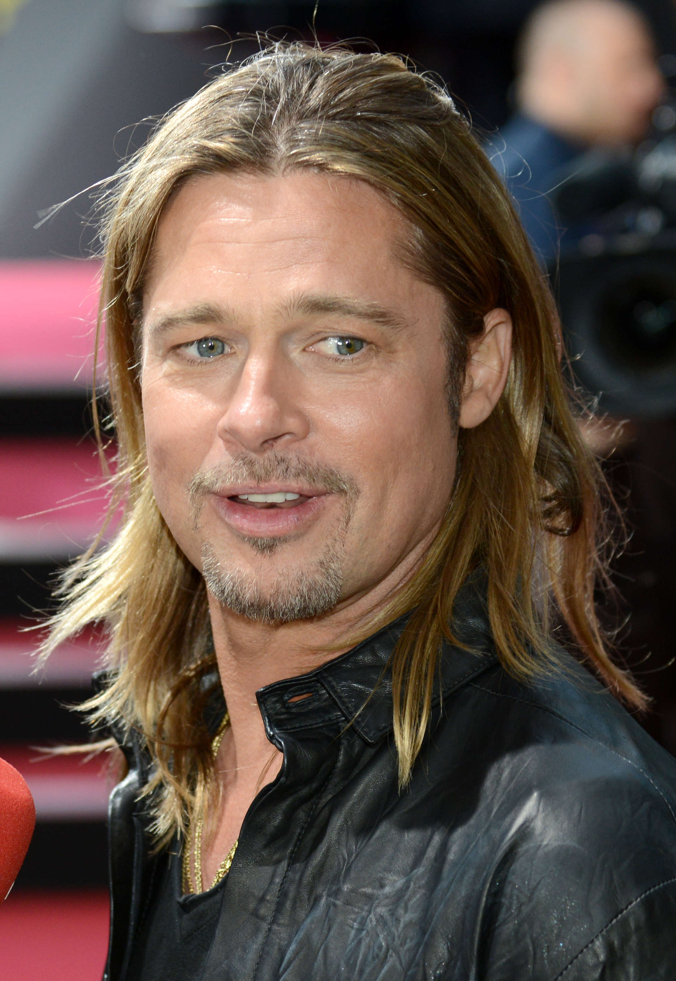 Brad Pitt's Long Blonde Hair