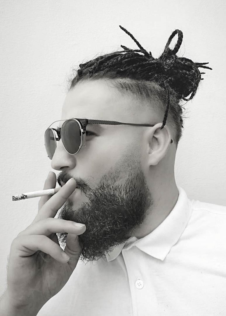 Braided Man Bun With Undercut