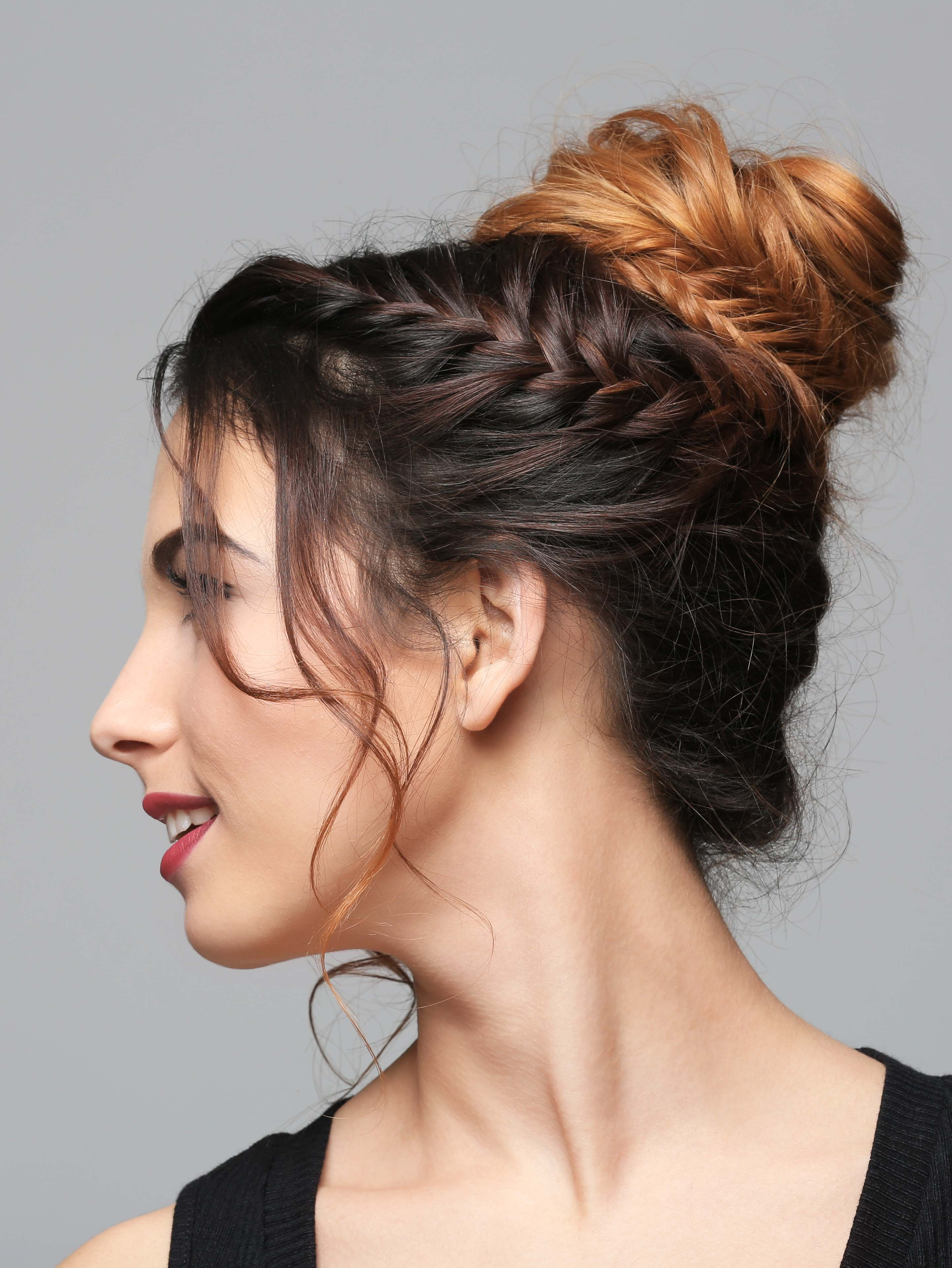 Braided Sides and Bun_