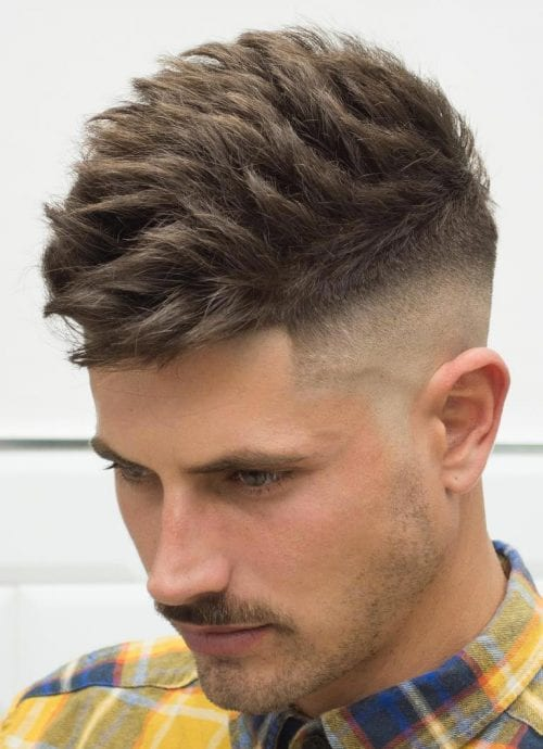 Brushed Up Mid Skin Fade Undercut + Textured Top