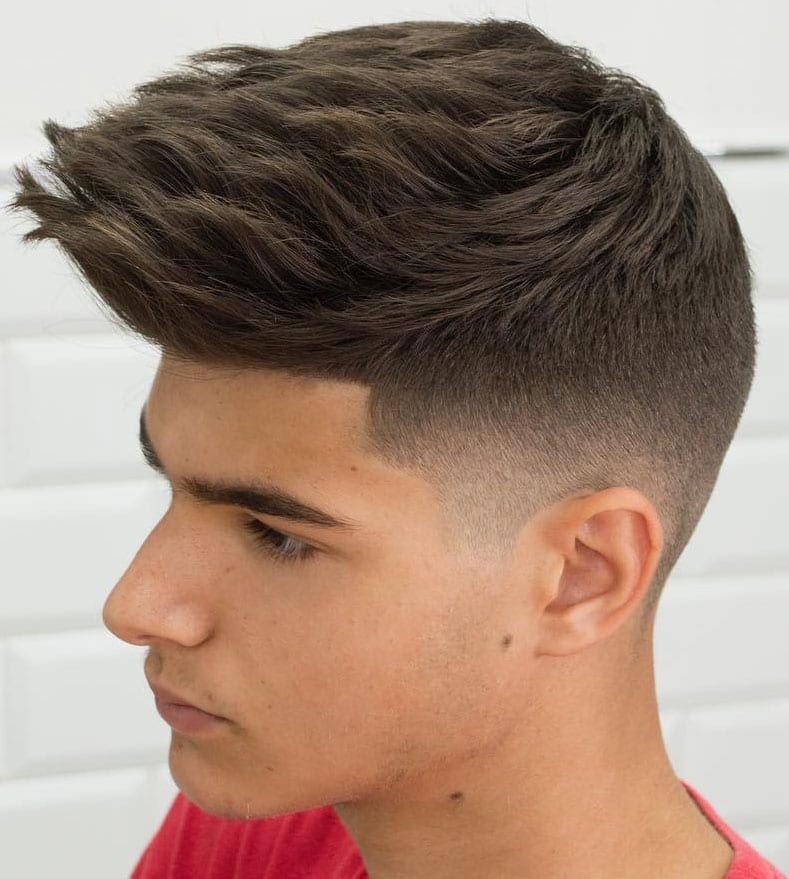 Brushed up Spiky Hairstyle for Young Guys
