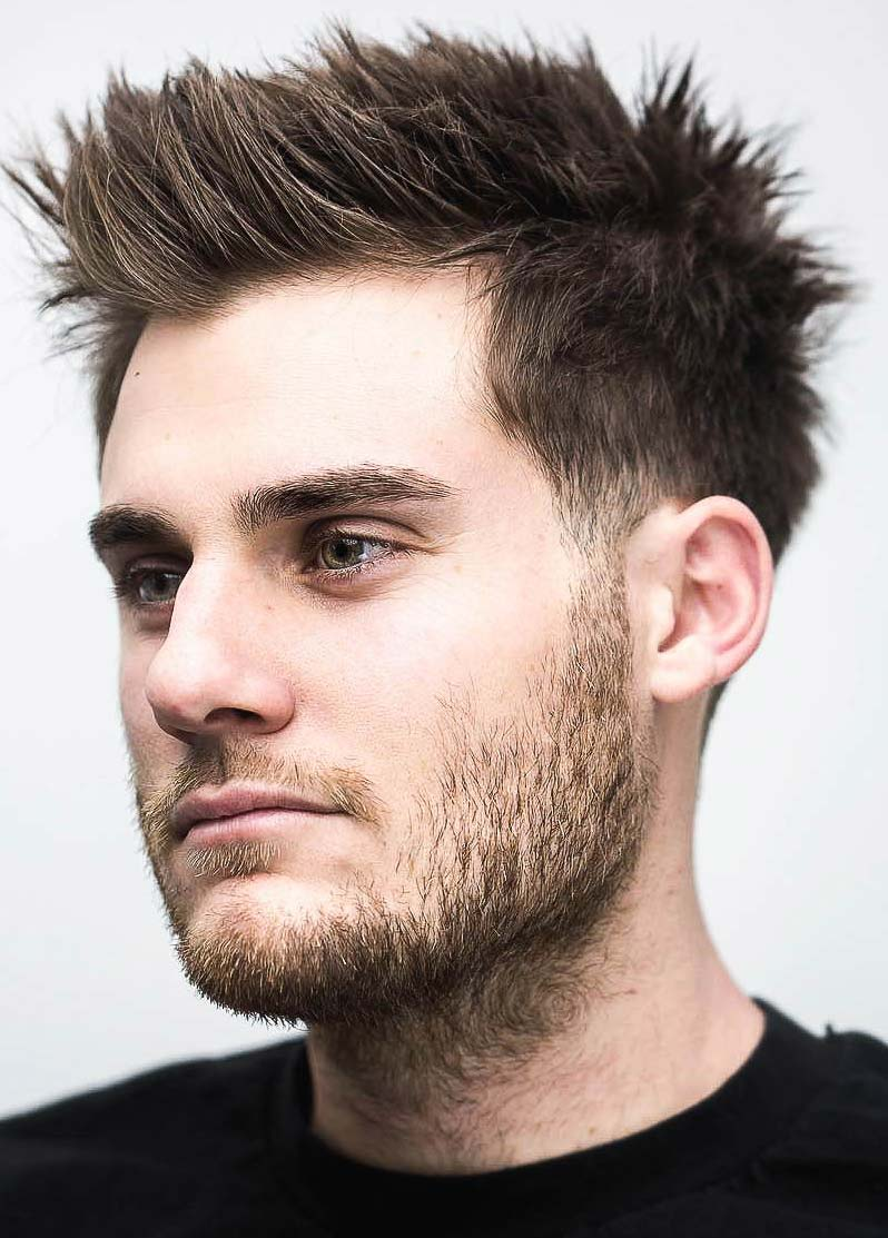 Brushed up Spiky Hairstyle