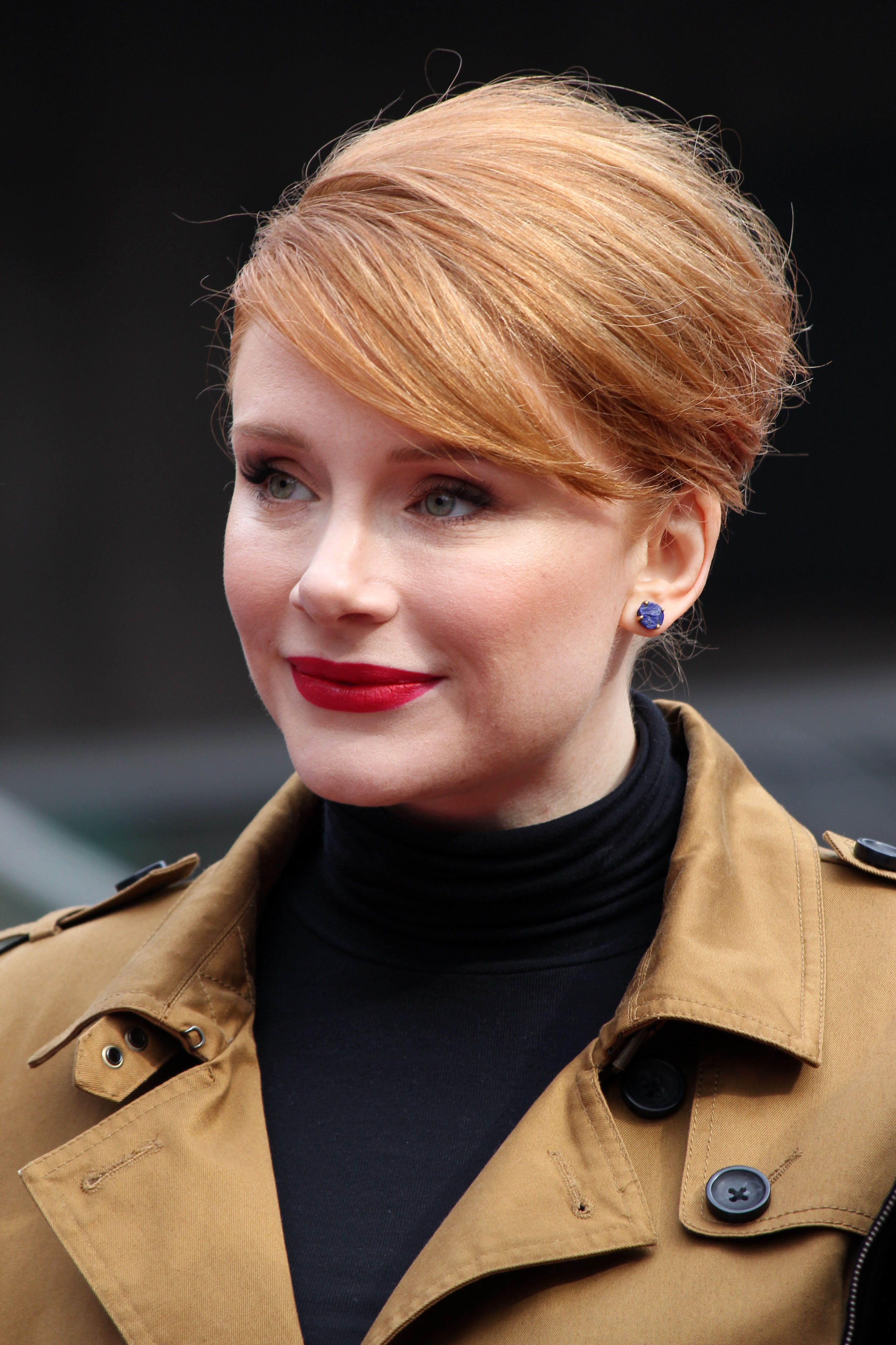 Bryce Dallas Howard's French Twist With Side Bangs