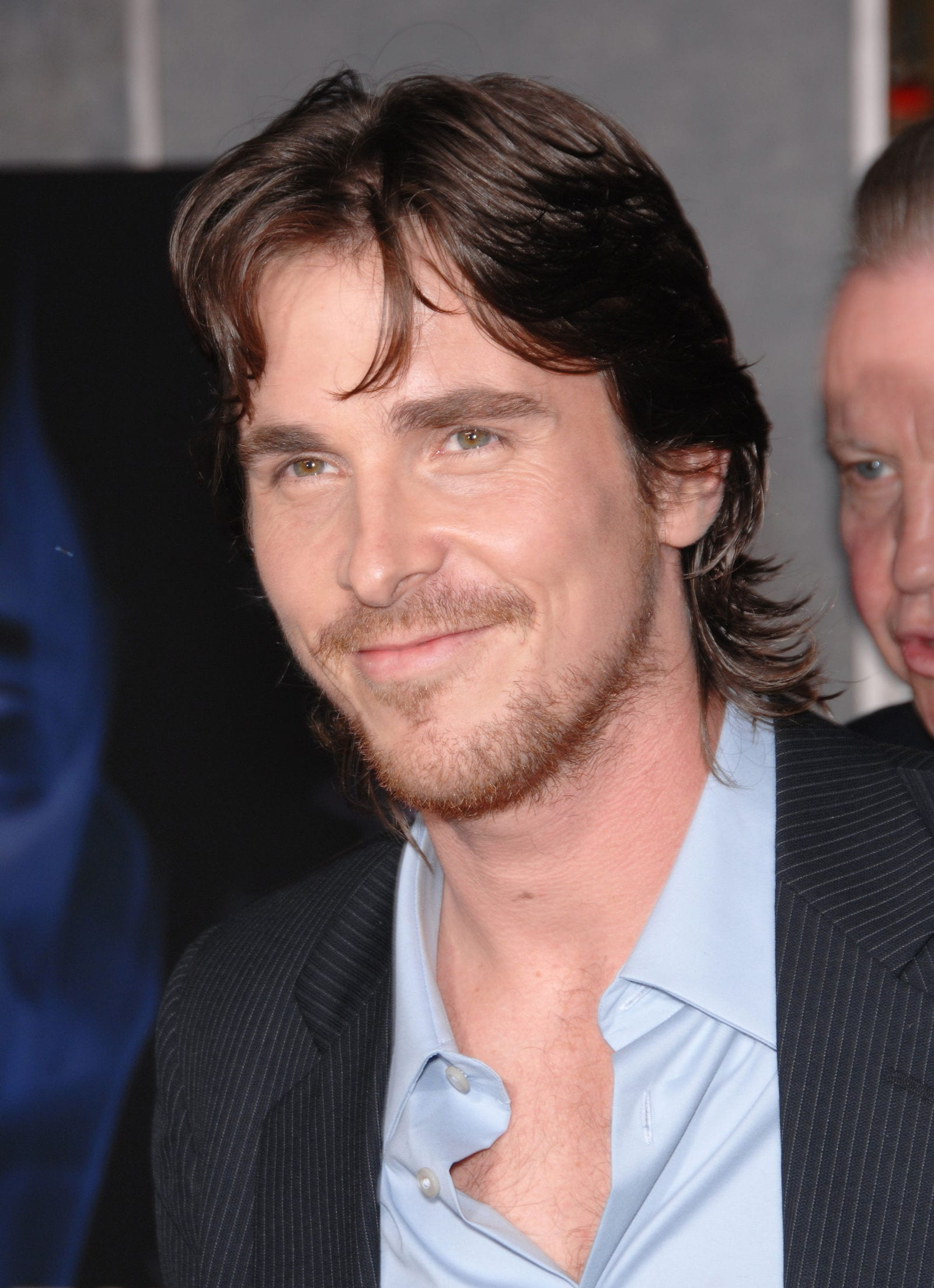 CHRISTIAN BALE modern mullet curtained hairstyle
