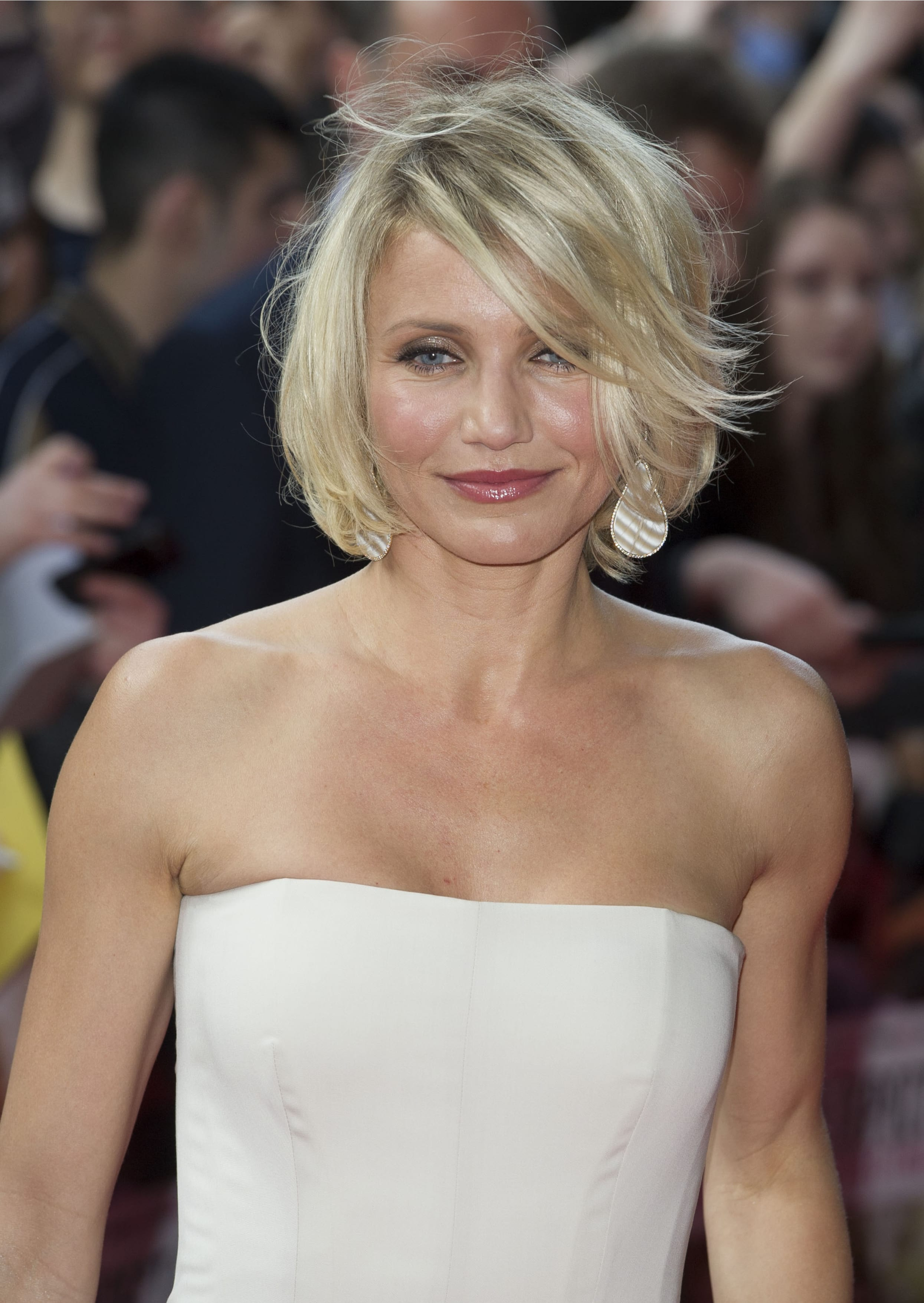 Cameron Diaz's With Jagged Bangs