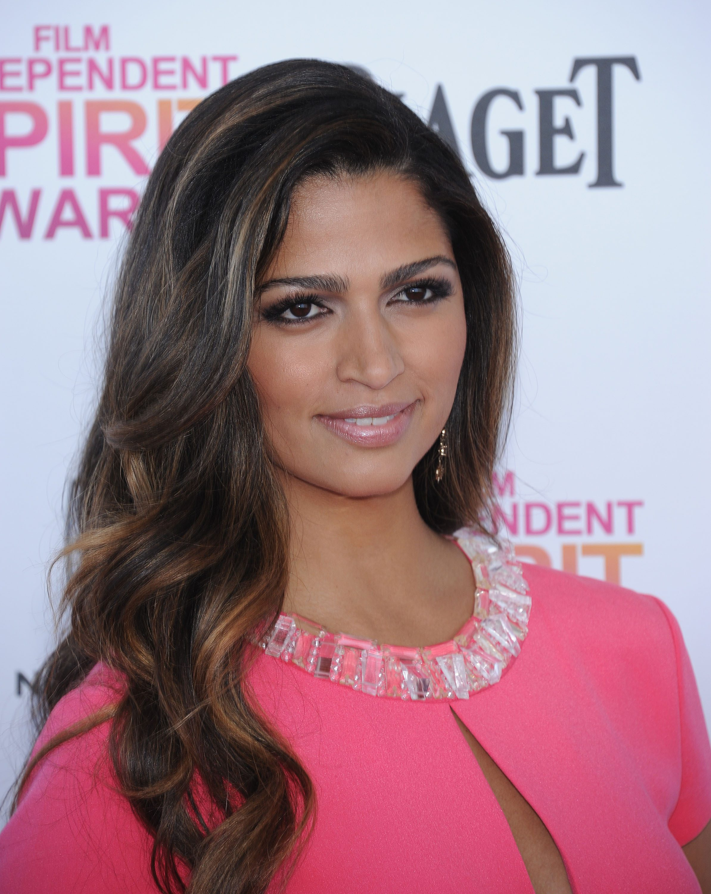 Camila Alves' Chocolate Brown Hair with Mixed Highlights