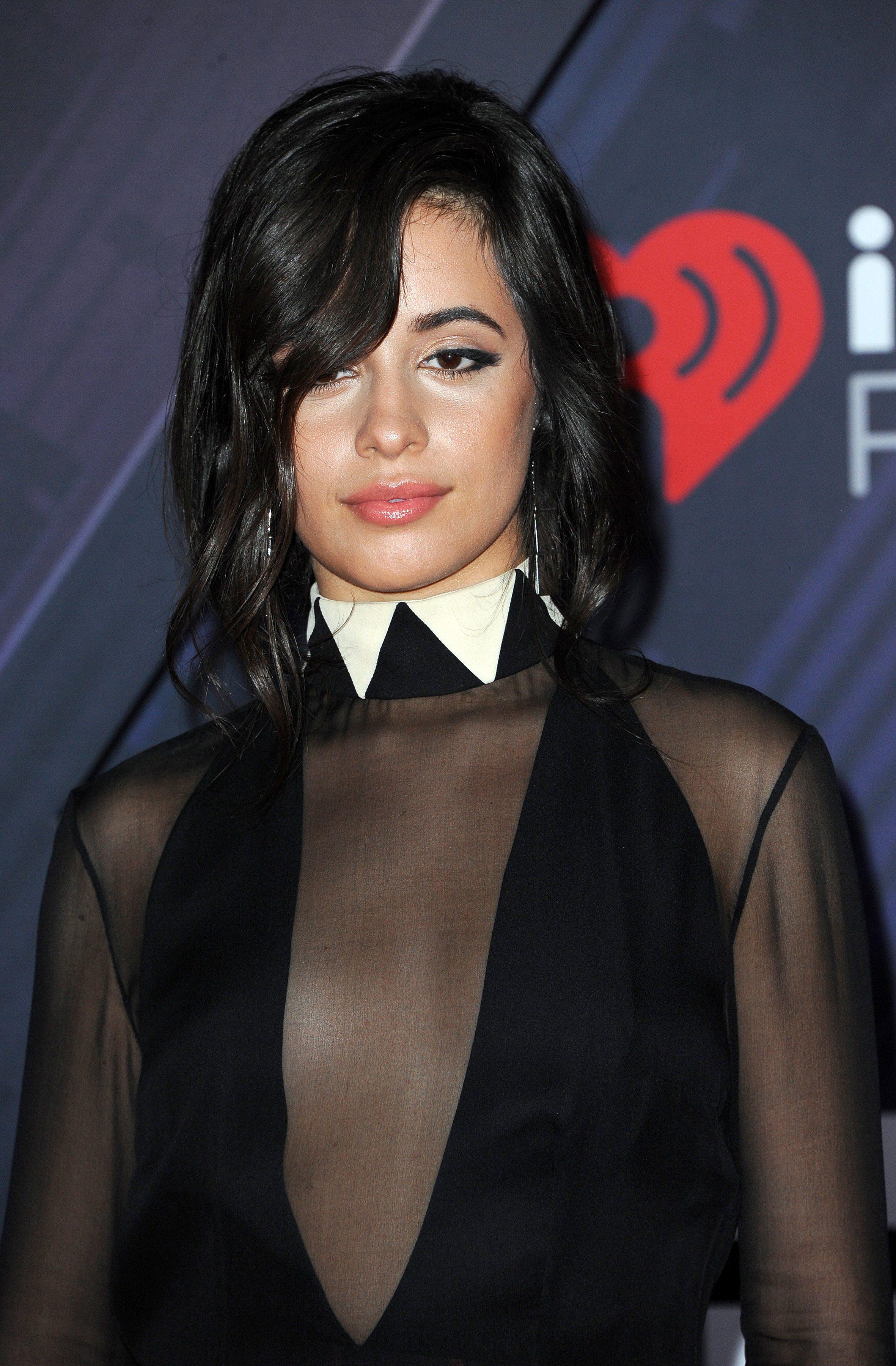 Camila Cabello's Long Side Bangs