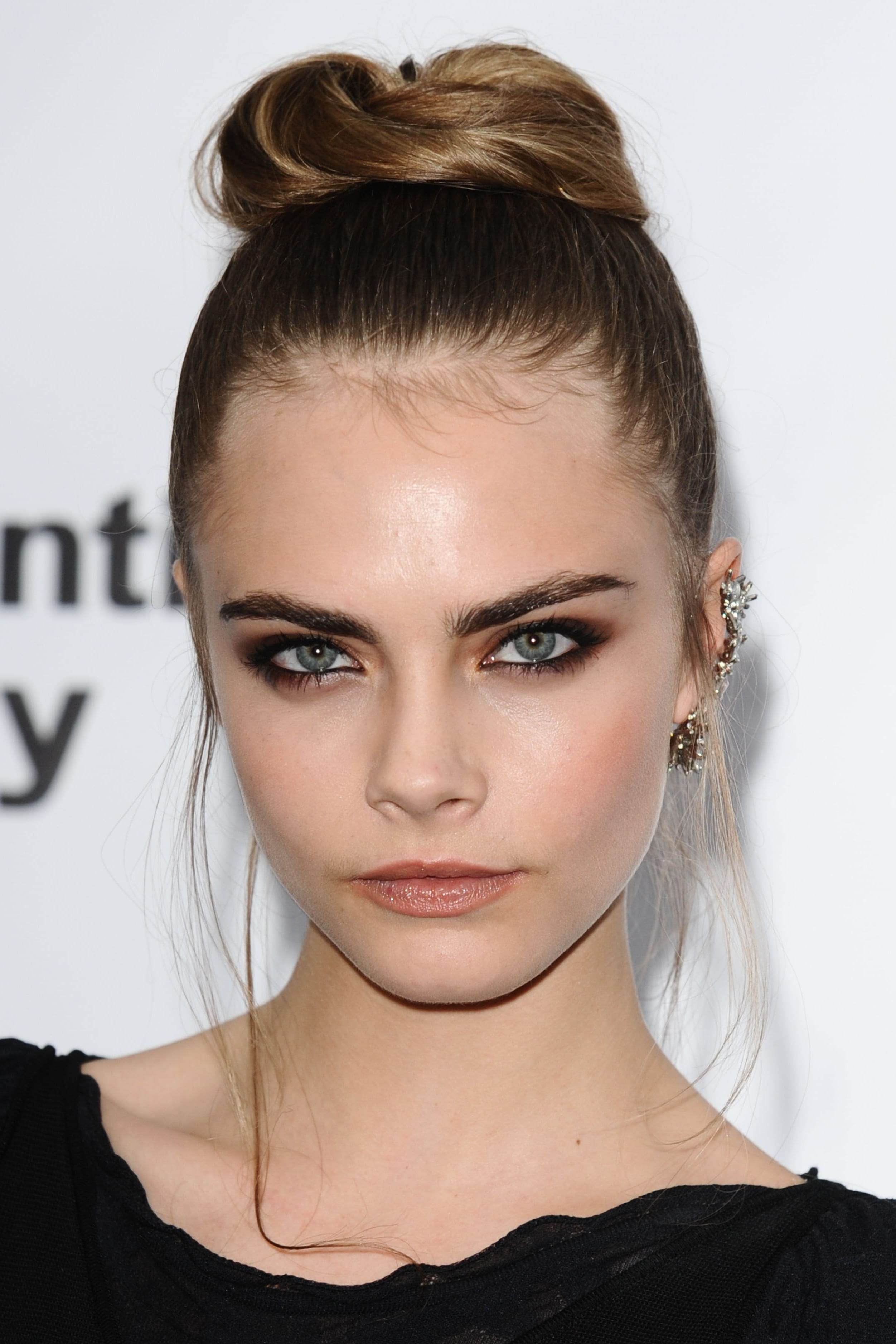 Cara Delevigne's Sleek Top Bun