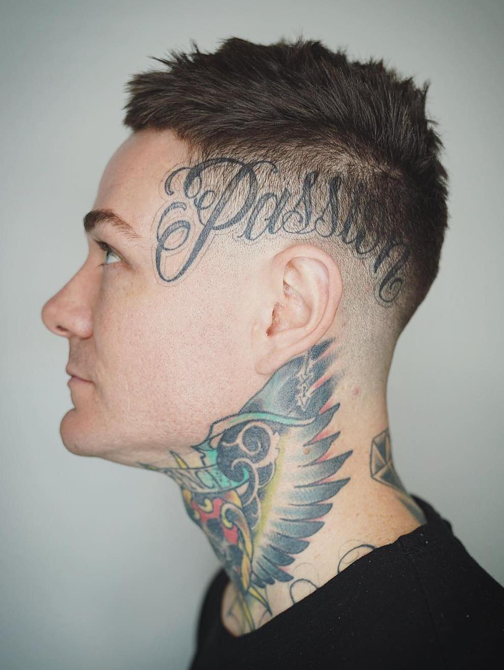 Chill Toss Top with Skin Fade