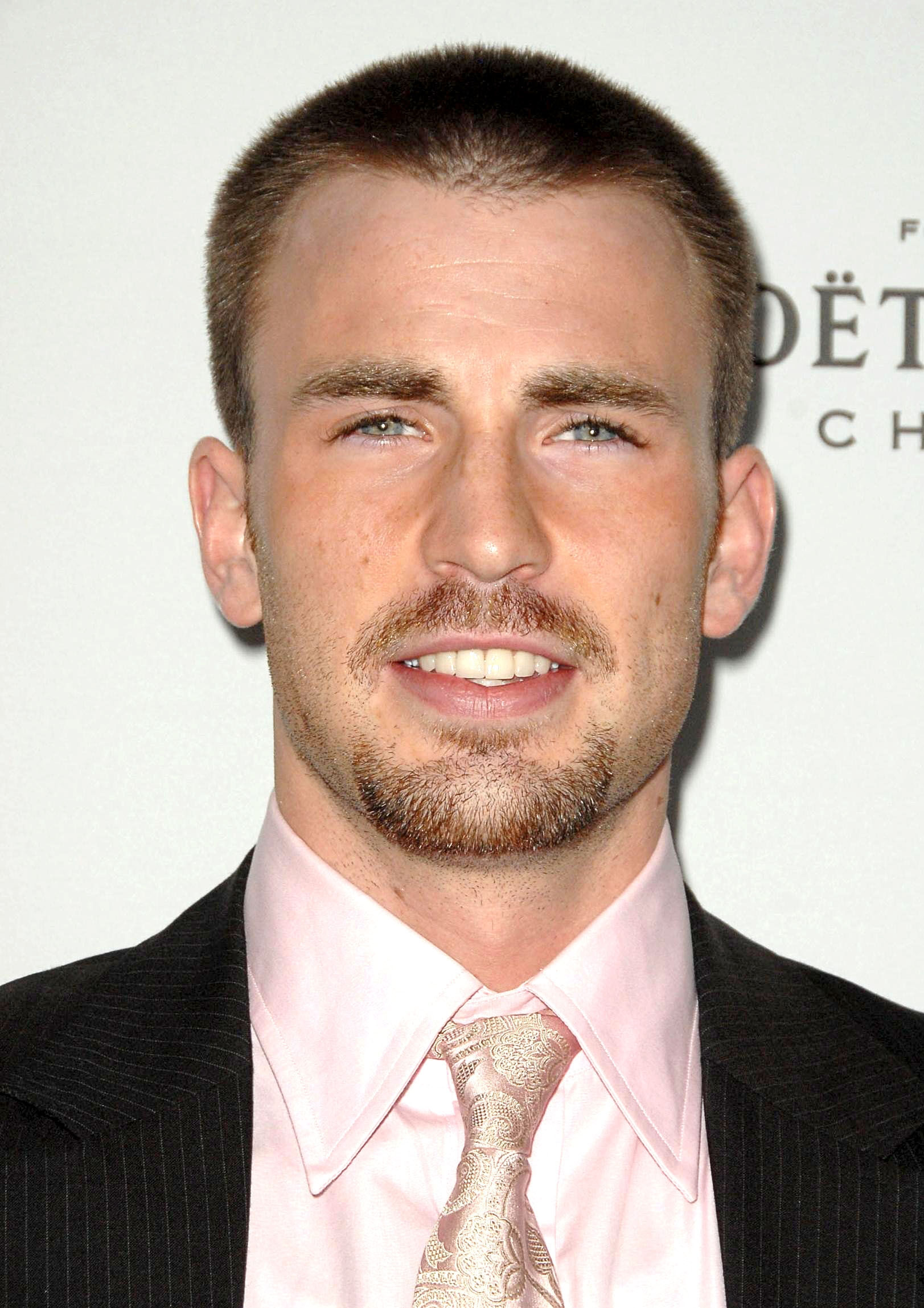 Chris Evans - buzz cut