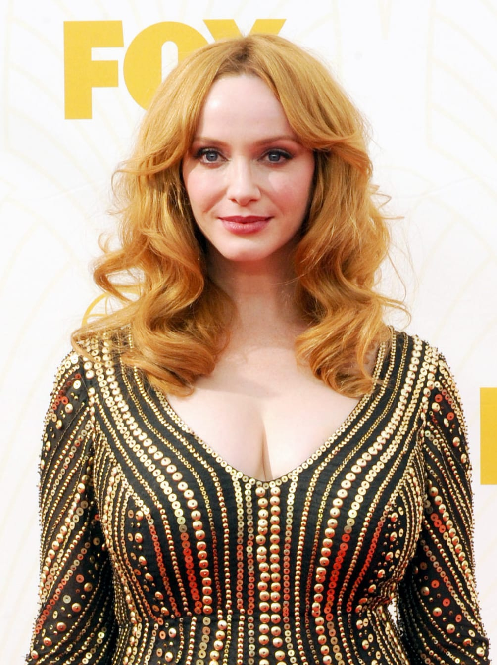 Christina Hendricks Luscious Waves with a Middle Part