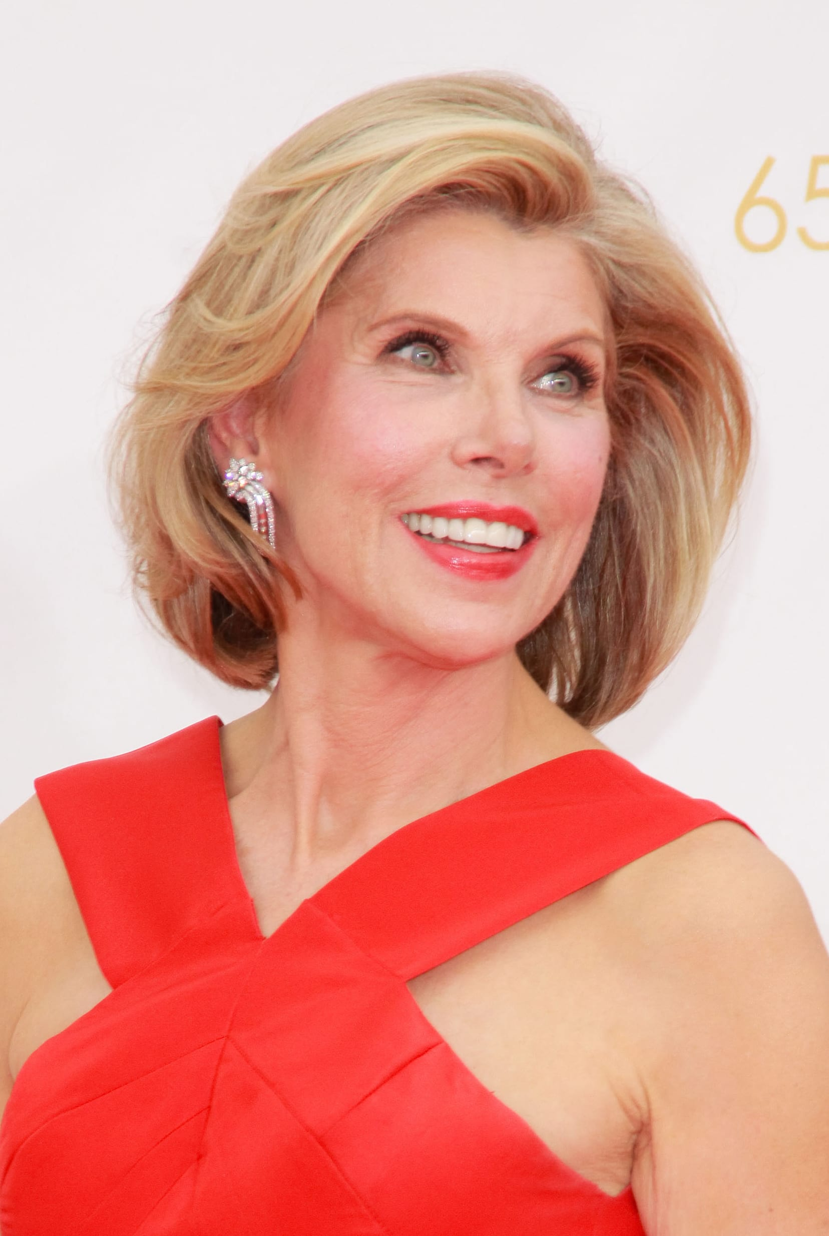 Christine Baranski's Warm Blondes on a Blowout Bob
