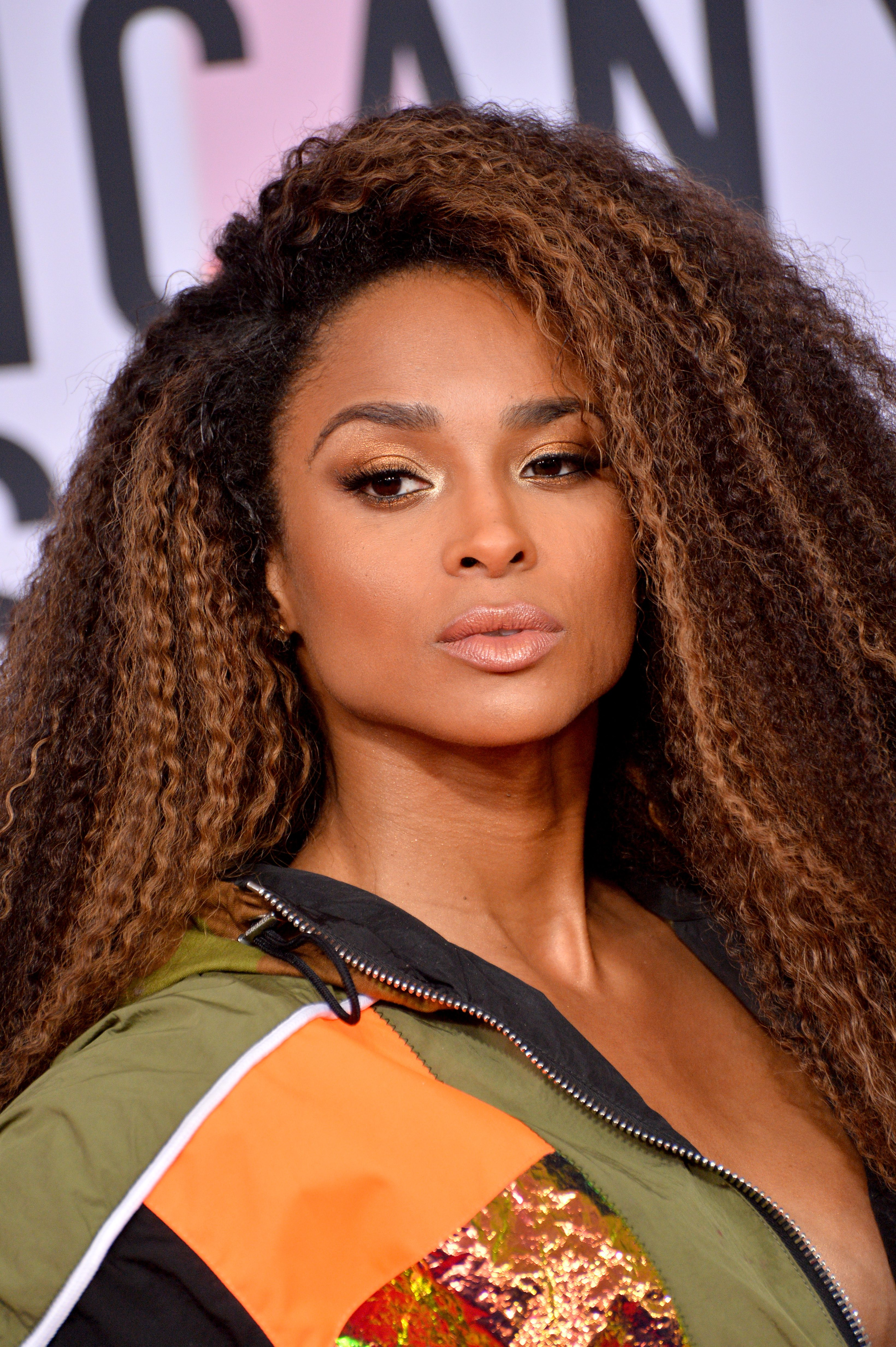 Ciara's Highlighted Chocolate Brown Afro