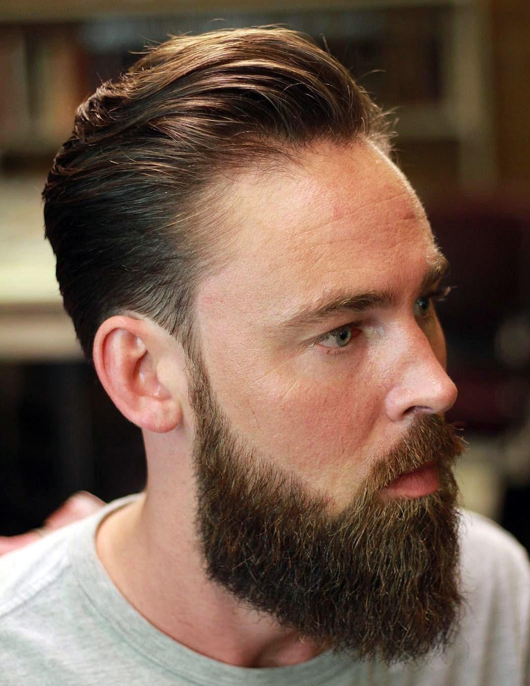 Classic Scissor Cut with Beard