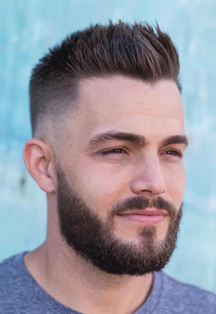 Subtle Widow Peak with Tapered Sides