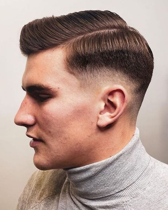 Classy Side Part with Low Fade
