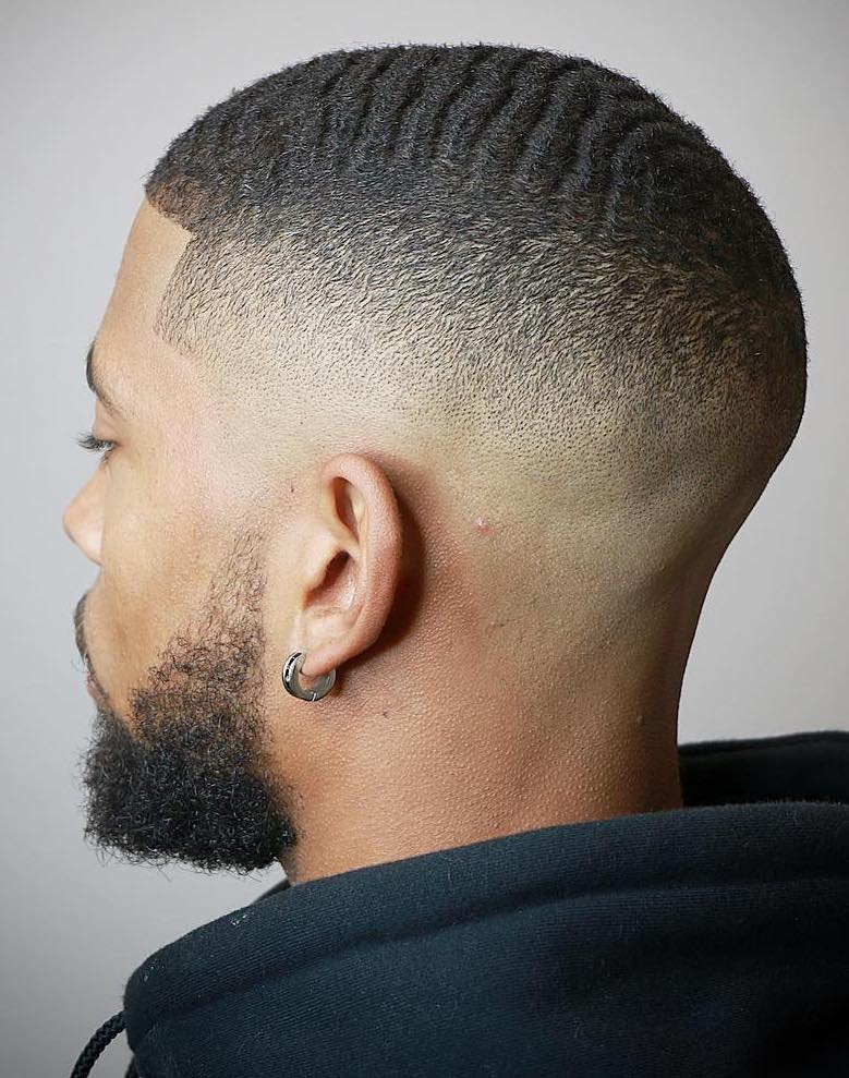 Clean Buzz Cut with Faded Sides