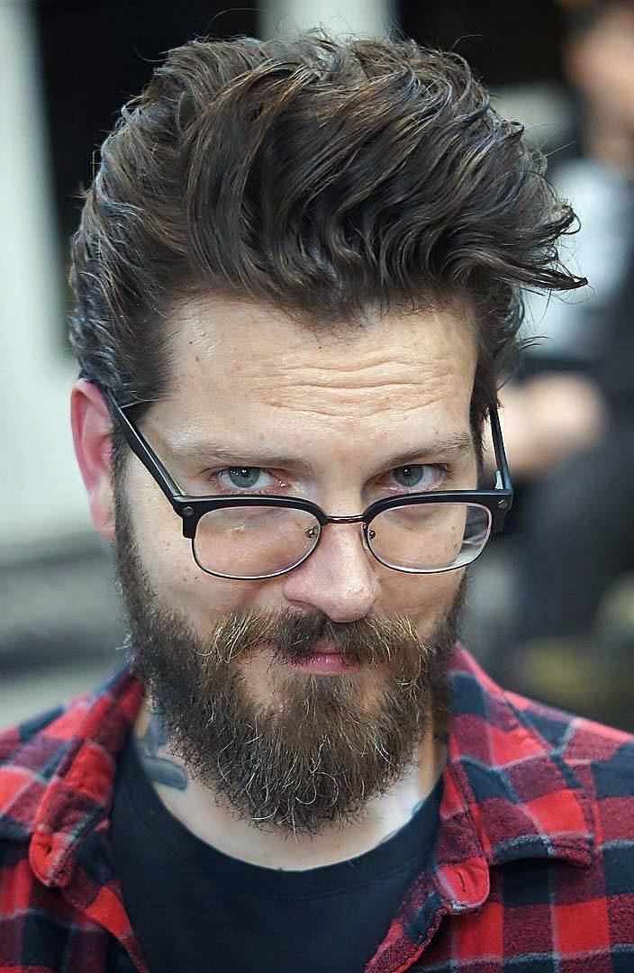 Combed Push Back with Long Beard