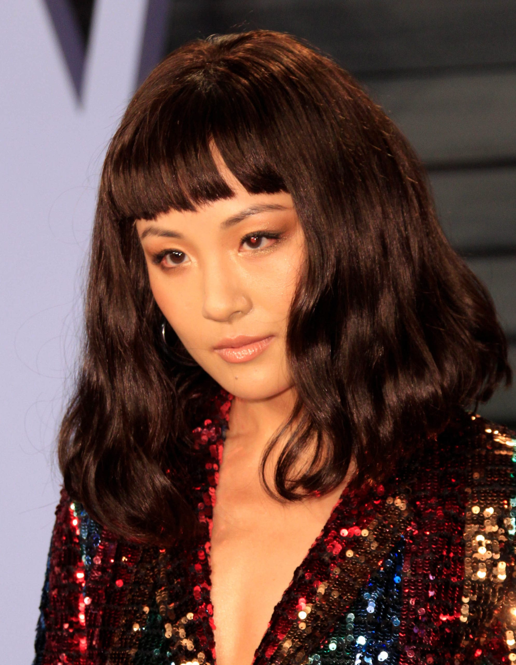 Constance Wu's Short Fringe and Lob