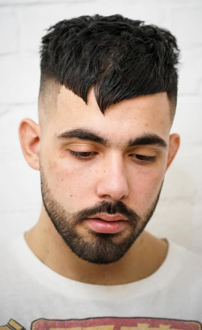 Crooked Angular Fringe with Shaved Sides