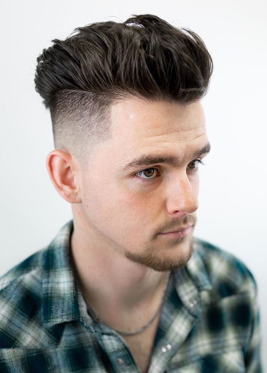 Crowded Thick Volume with Undercut Taper Fade