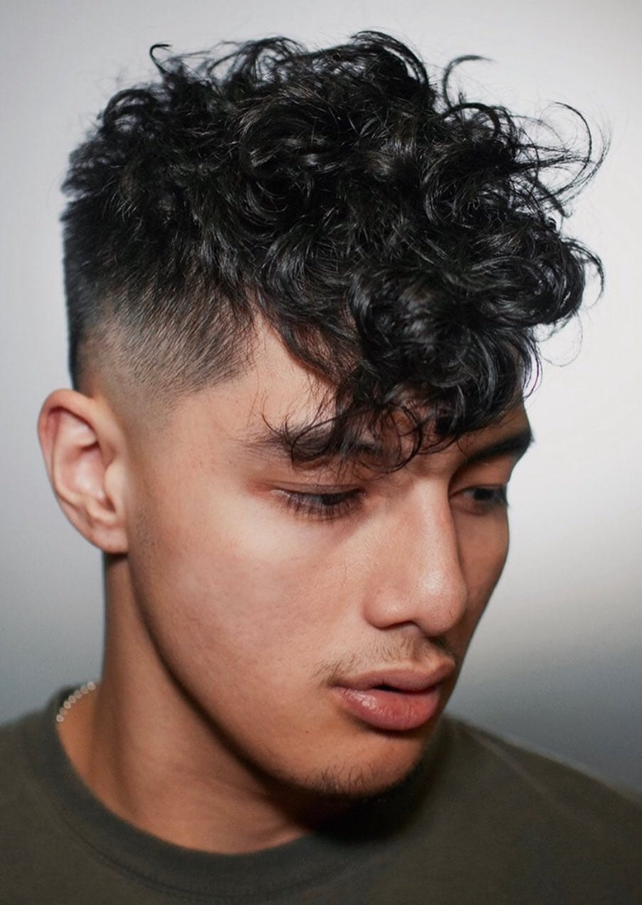 Curled Top with Neat Faded Sides